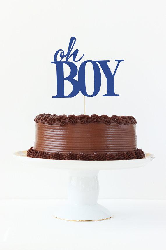 Boy Baby Shower Cake Topper Oh Boy