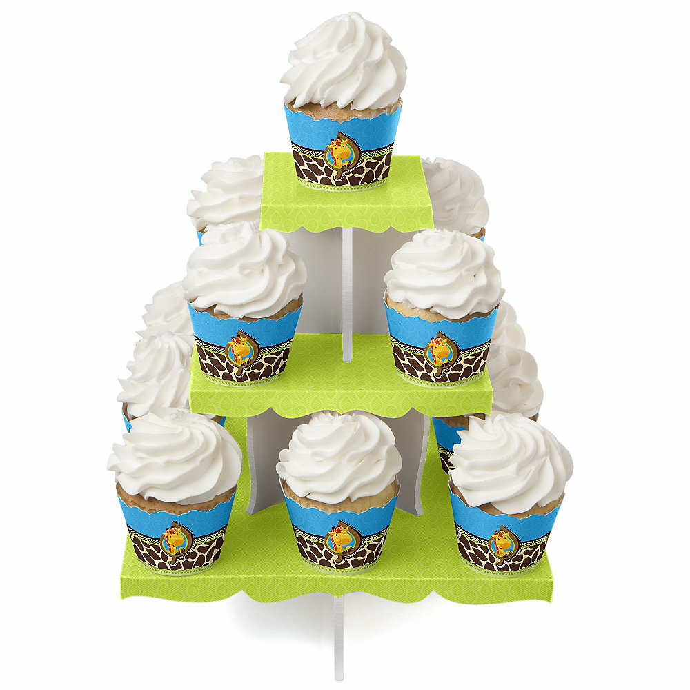 Boy-Giraffe-Baby-Shower-Cupcake-Stand-Cupcake-Wrappers