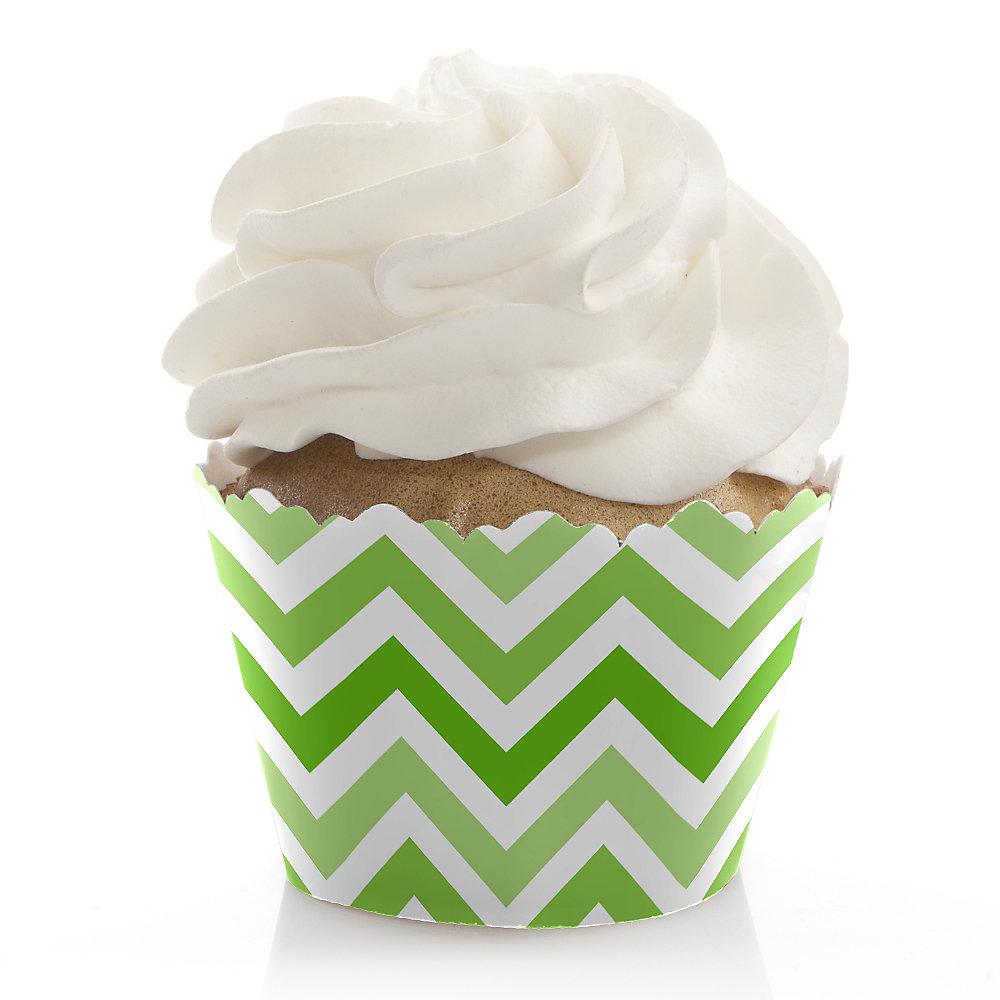 Chevron-Green-Baby-Shower-Cupcake-Wrappers
