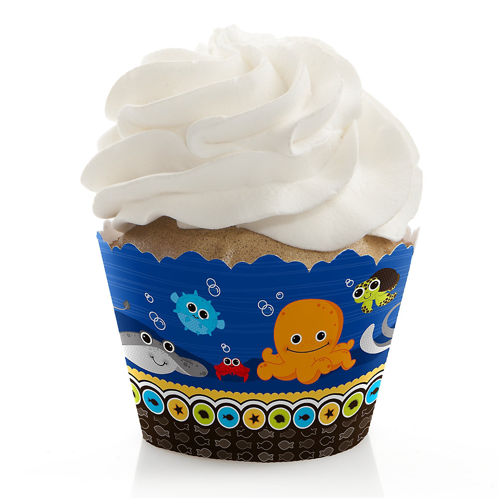Sea-Critters-Baby-Shower-Cupcake-Wrappers
