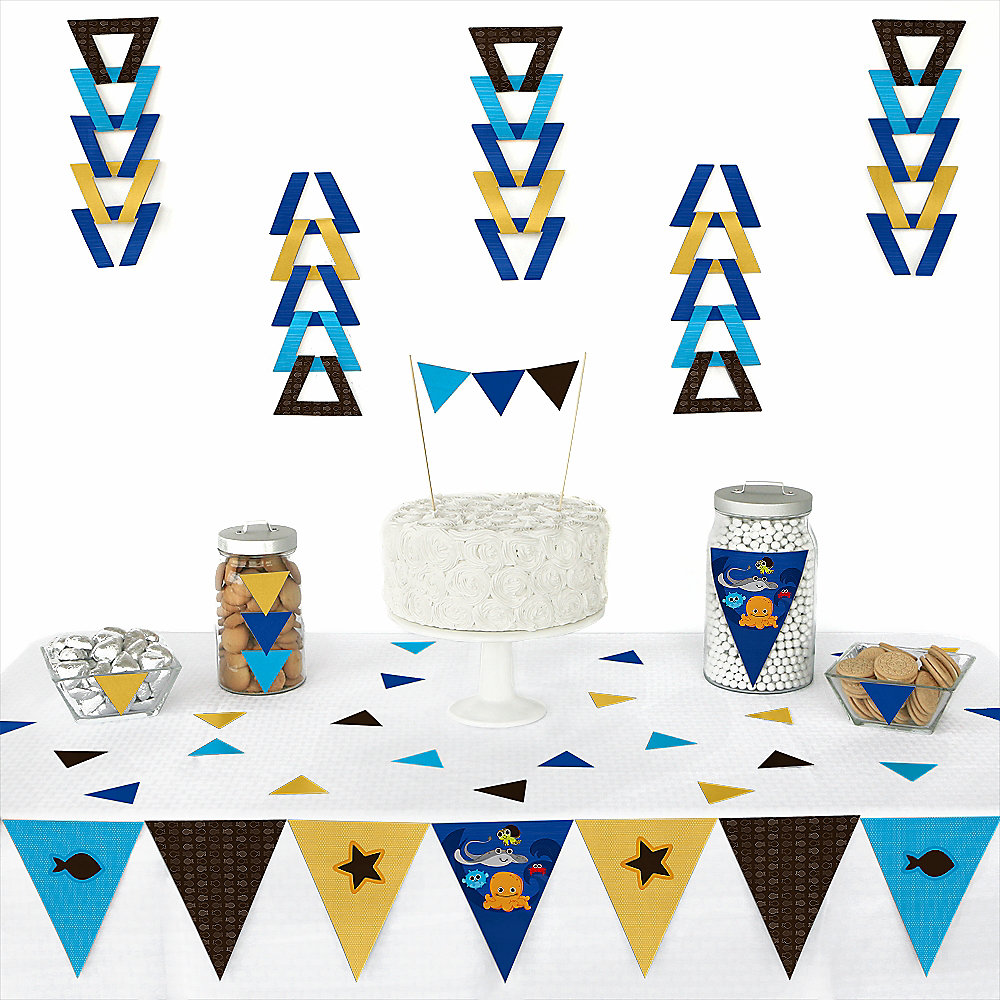 Sea-Critters-Party-Triangle-Decoration-Kits