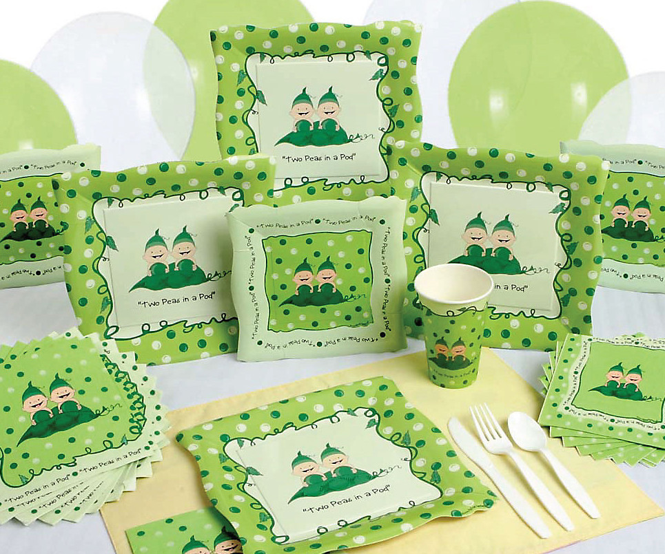 two peas in a pod 16 baby shower party pack