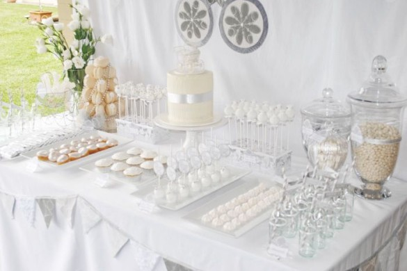 ALL WHITE BABY SHOWER-food