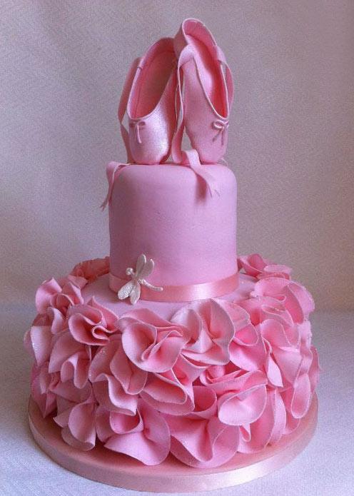 Ballerina Baby Shower Cake4