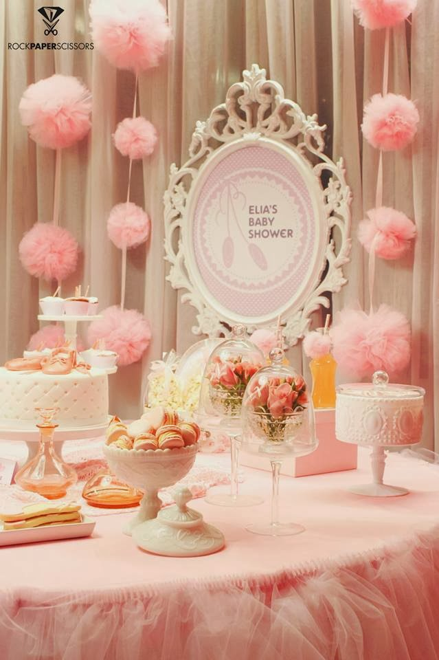 Ballerina baby shower ideas baby ideas for Baby shower decoration kits girl