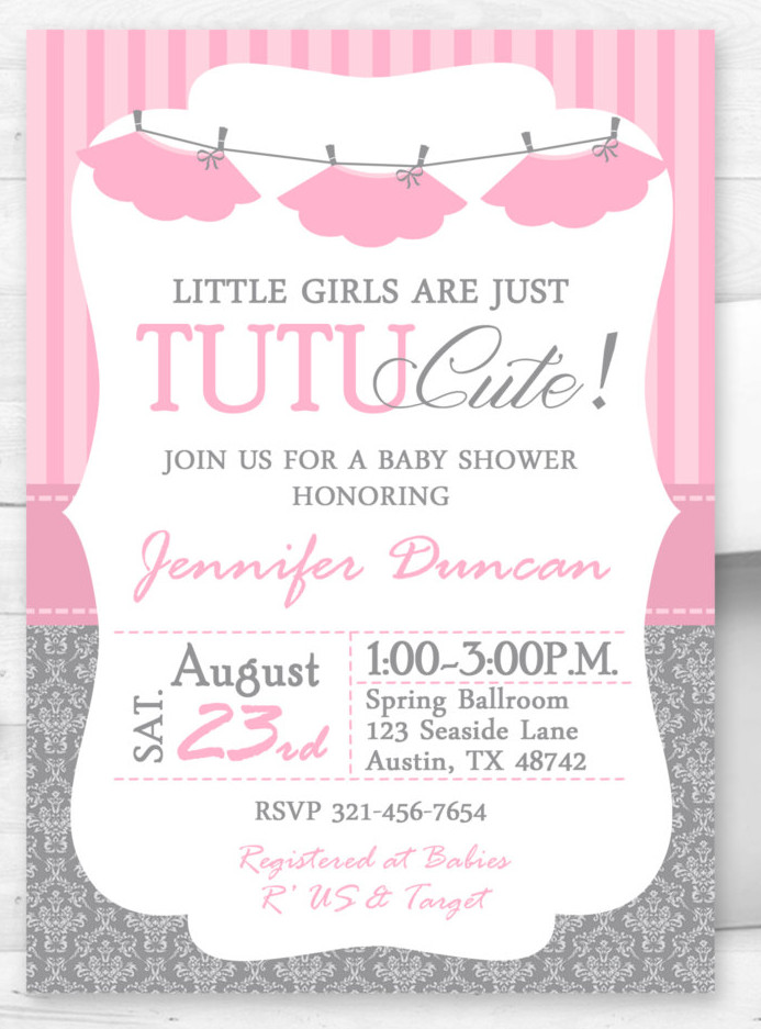 Baby Shower Girl Invitations as great invitation design