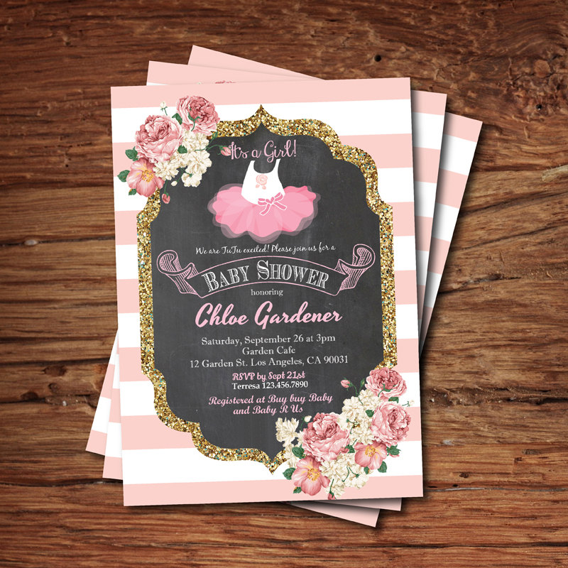 Ballerina Baby Shower Invitations2