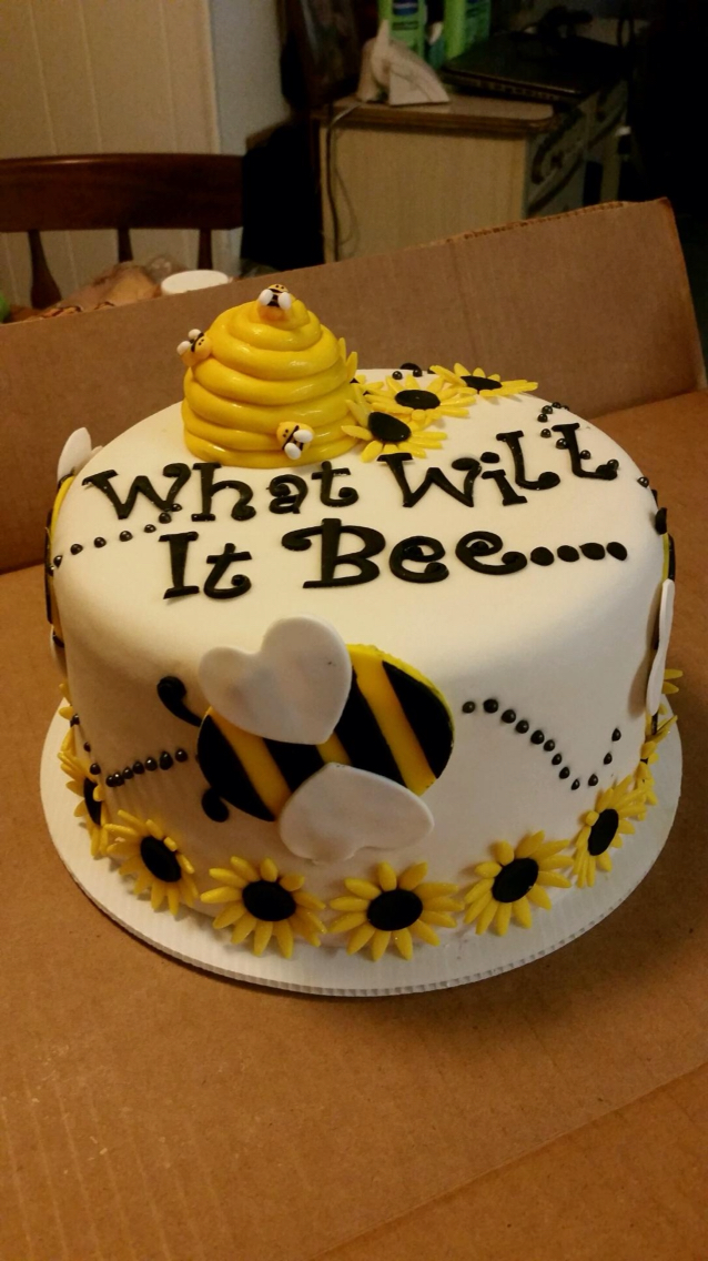 Bee Baby Shower Cake3