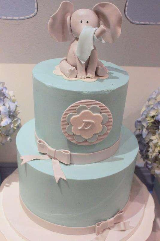 Elephant Baby Shower-cake