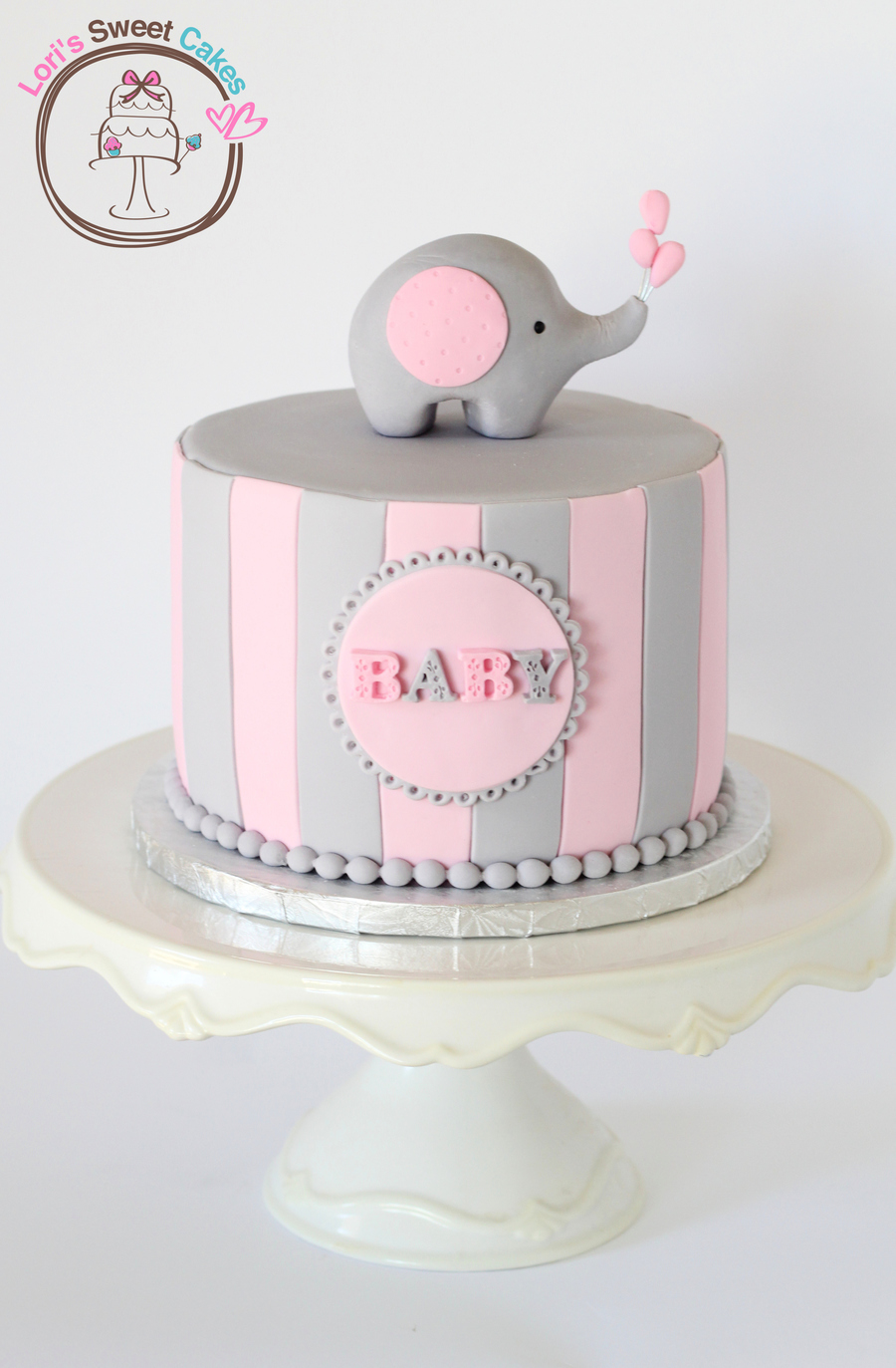 Elephant Baby Shower-cake2