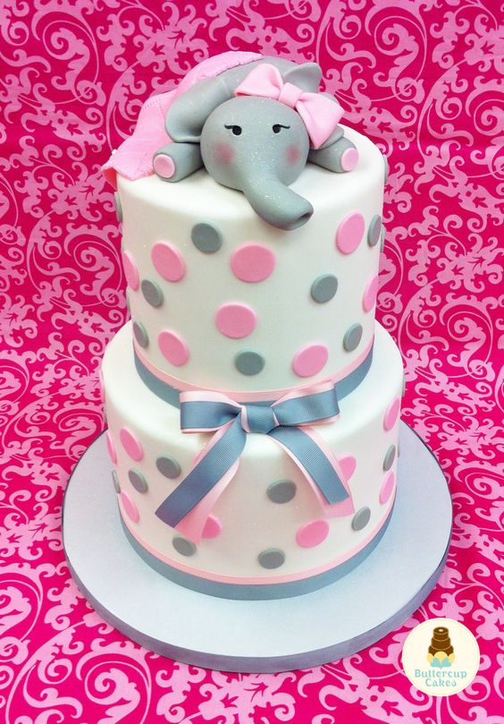 Elephant Baby Shower-cake3