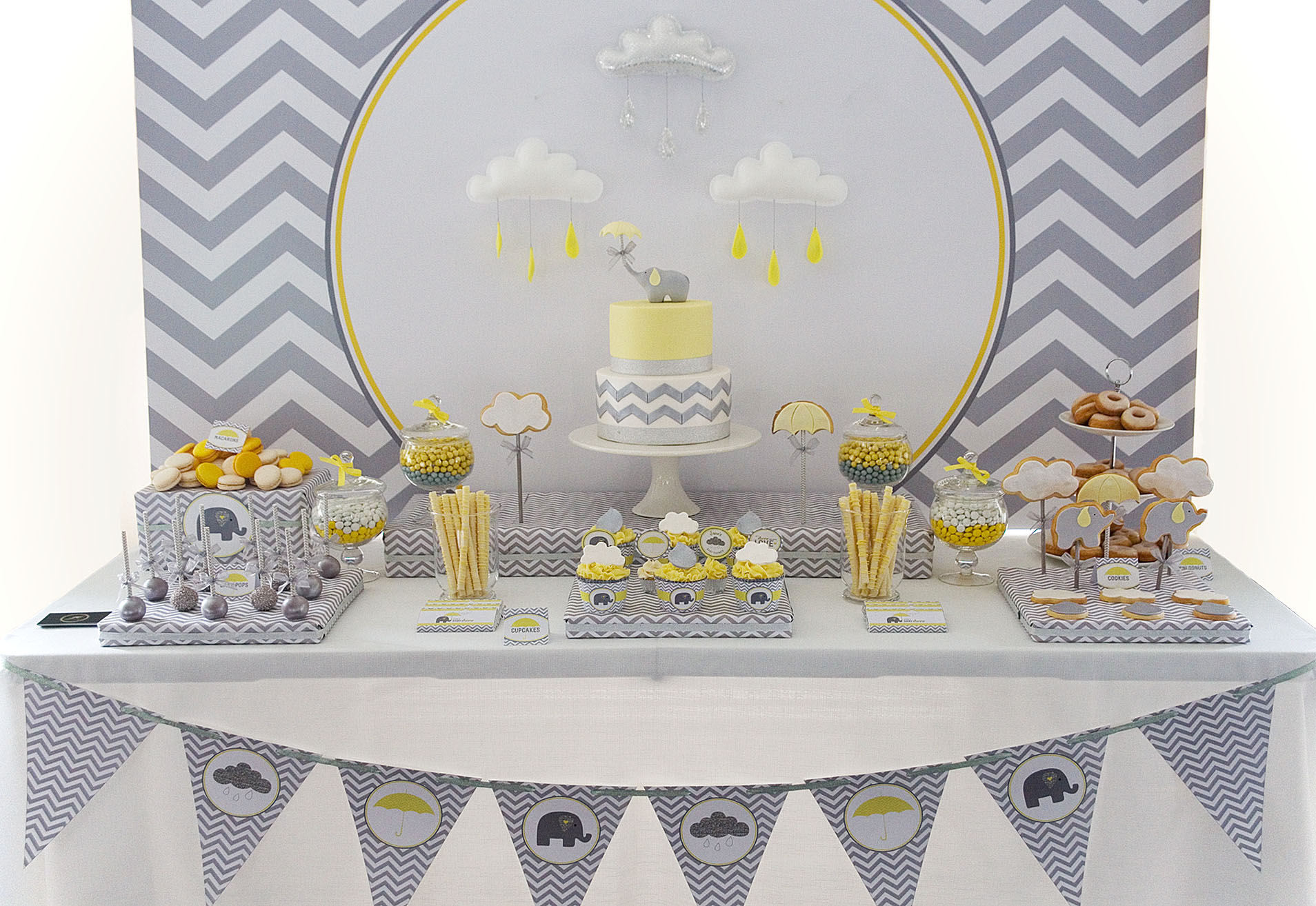 Elephant baby shower ideas baby ideas - Idee deco baby shower ...