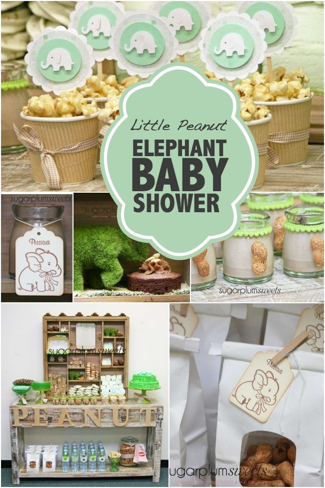 peanut baby shower favors elephant baby shower ideas baby ideas