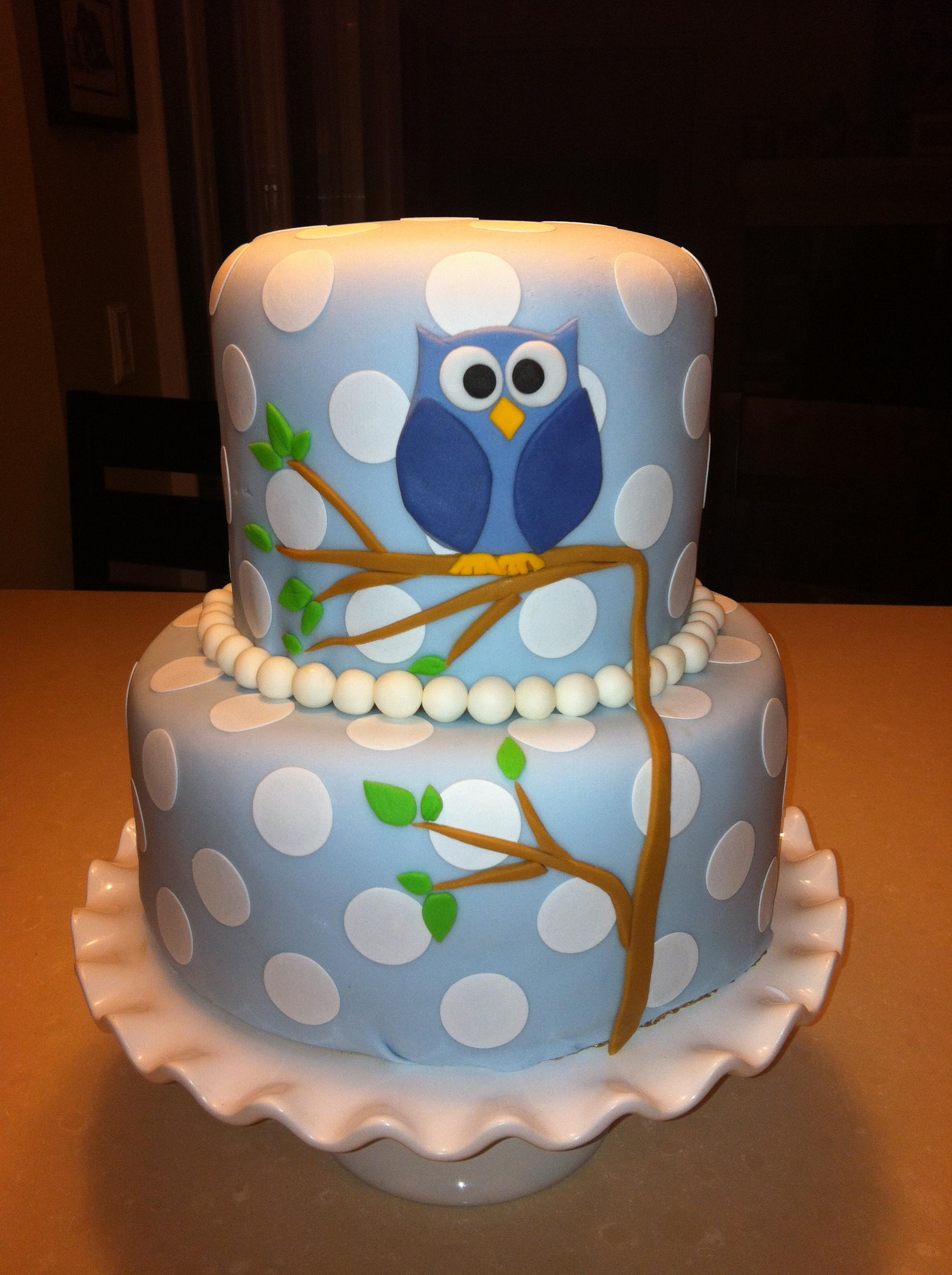 owl birthday cake ideas owl baby shower cakes