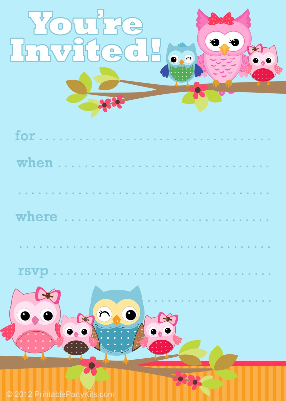 Owl Baby Shower Invitation3