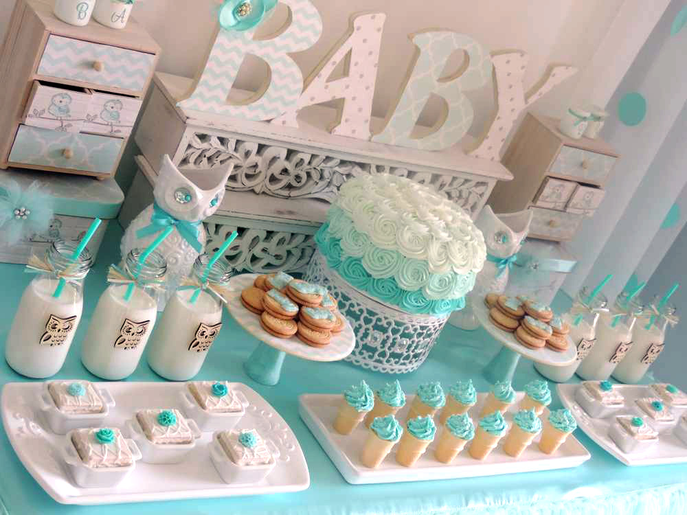 Owl baby shower ideas baby ideas for Baby shower decoration photos