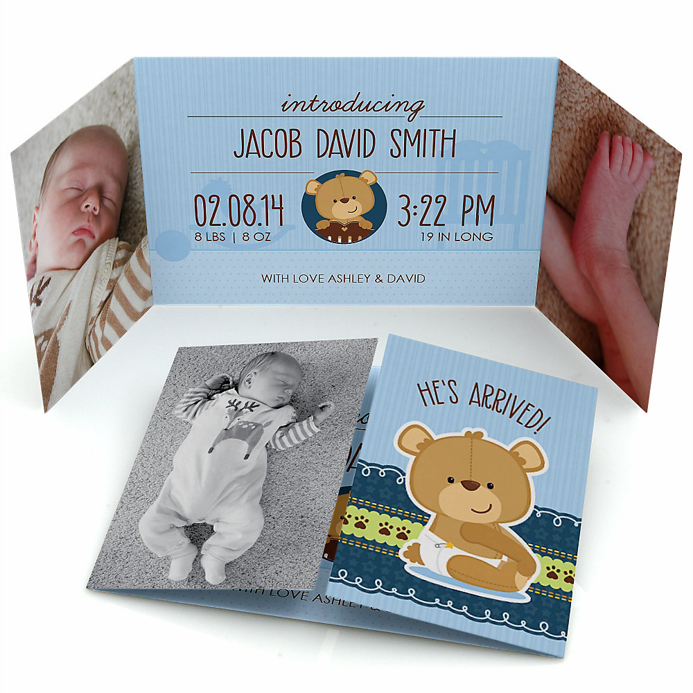 Baby-Boy-Teddy-Bear-Photo-Birth-Announcements