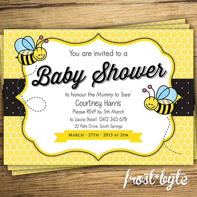 Bumblebee Theme Baby Shower Invitation
