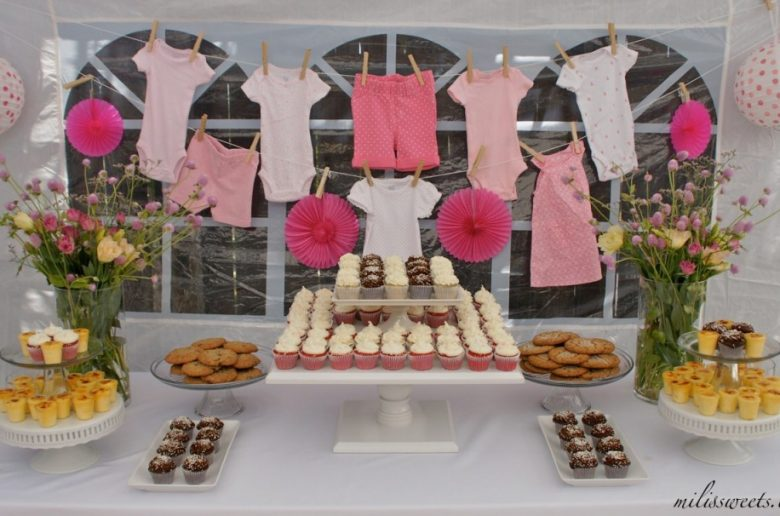 Clothesline Baby Shower Ideas