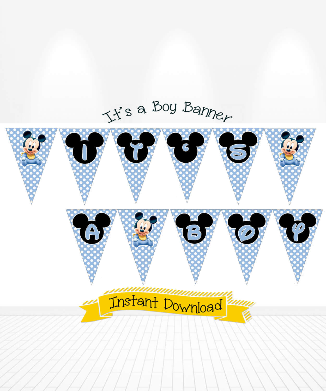 Disney Baby Mickey Mouse Baby Shower
