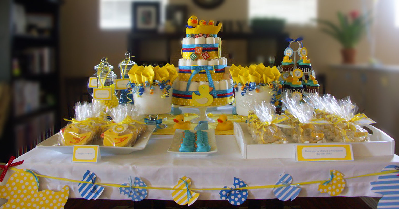 Ducky baby shower ideas baby ideas for Baby shower dekoration