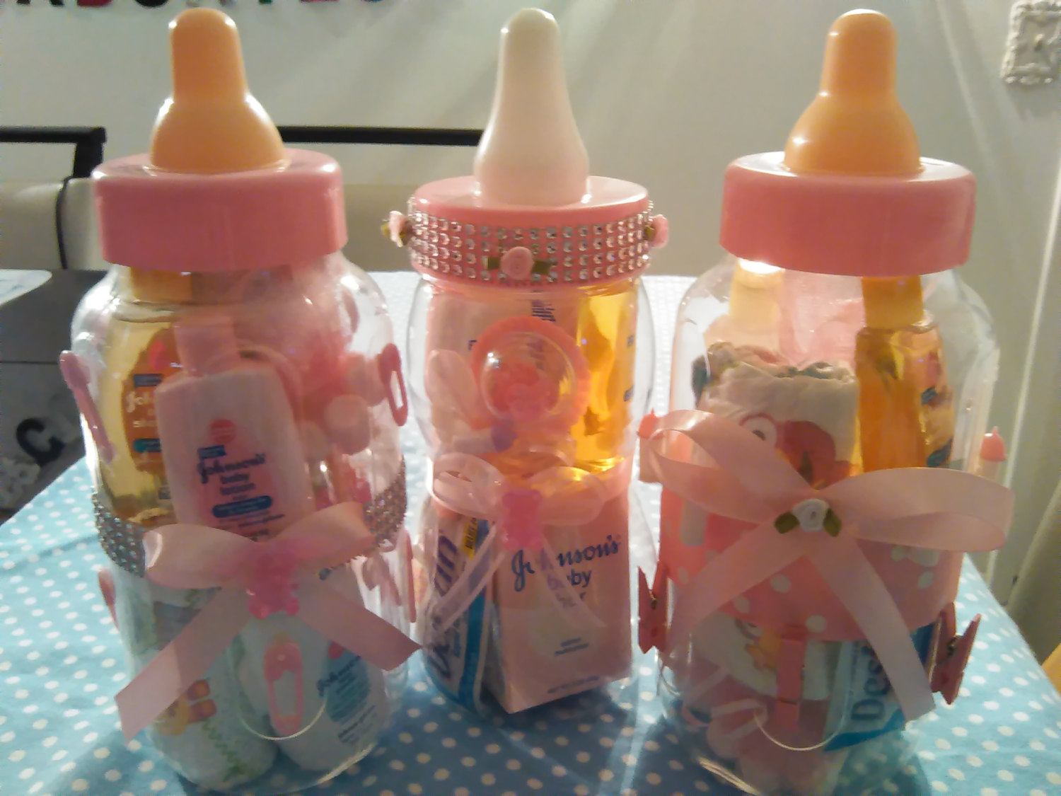 Filled Baby Bottles