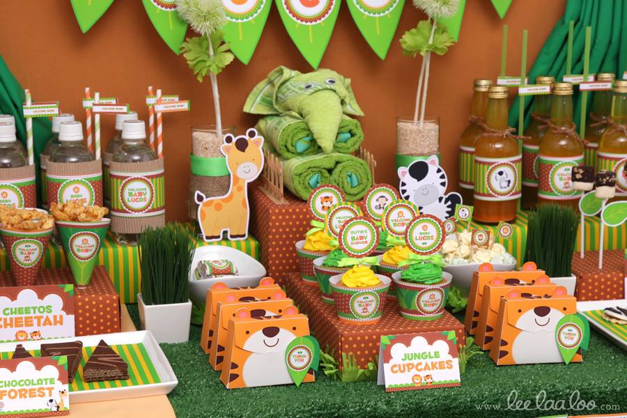 Jungle baby shower ideas baby ideas for Baby shower decoration safari