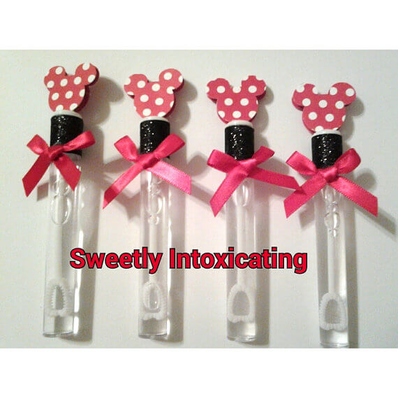 Minnie Mouse bubbles with red satin bows