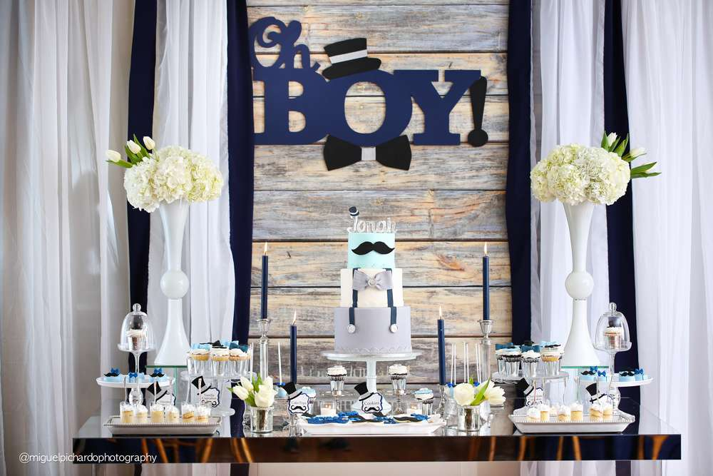 Mustache baby shower ideas baby ideas - Idee deco baby shower ...