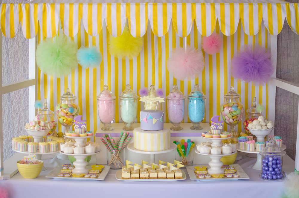 Pastel baby shower ideas baby ideas for Baby shower function decoration