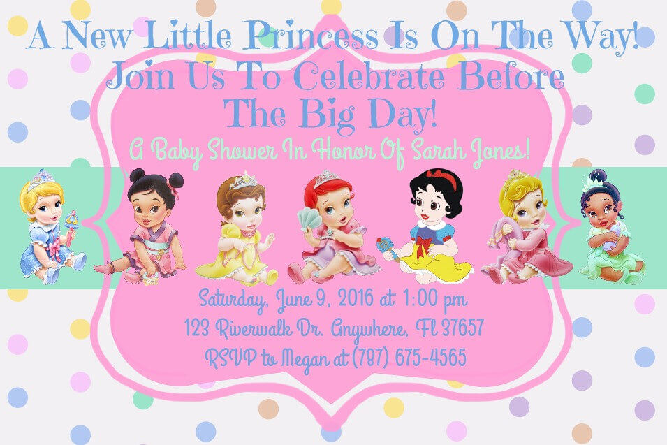 Baby Shower Invitation Templates For Girls with nice invitations layout