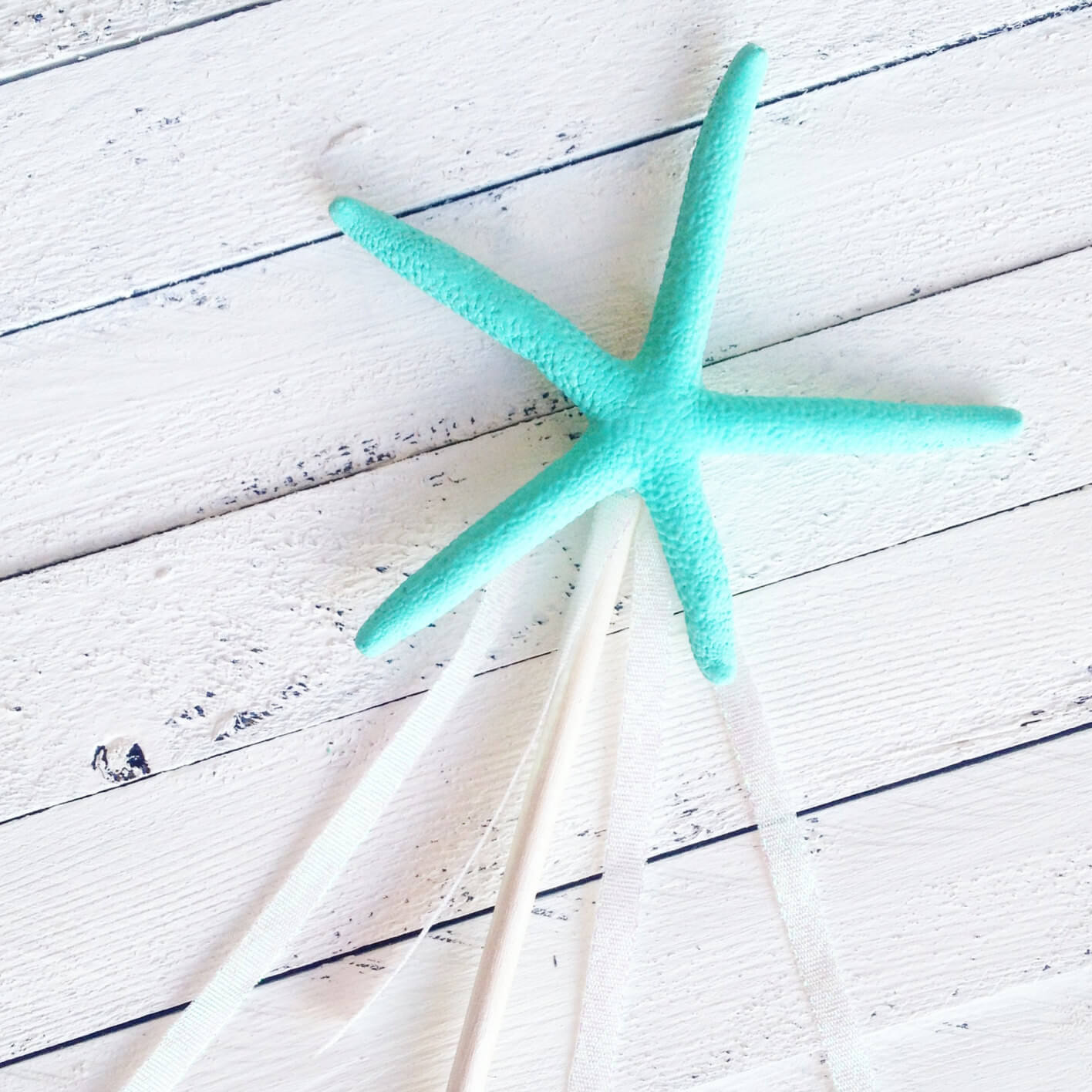 Starfish wand mermaid princess party decor favor baby shower