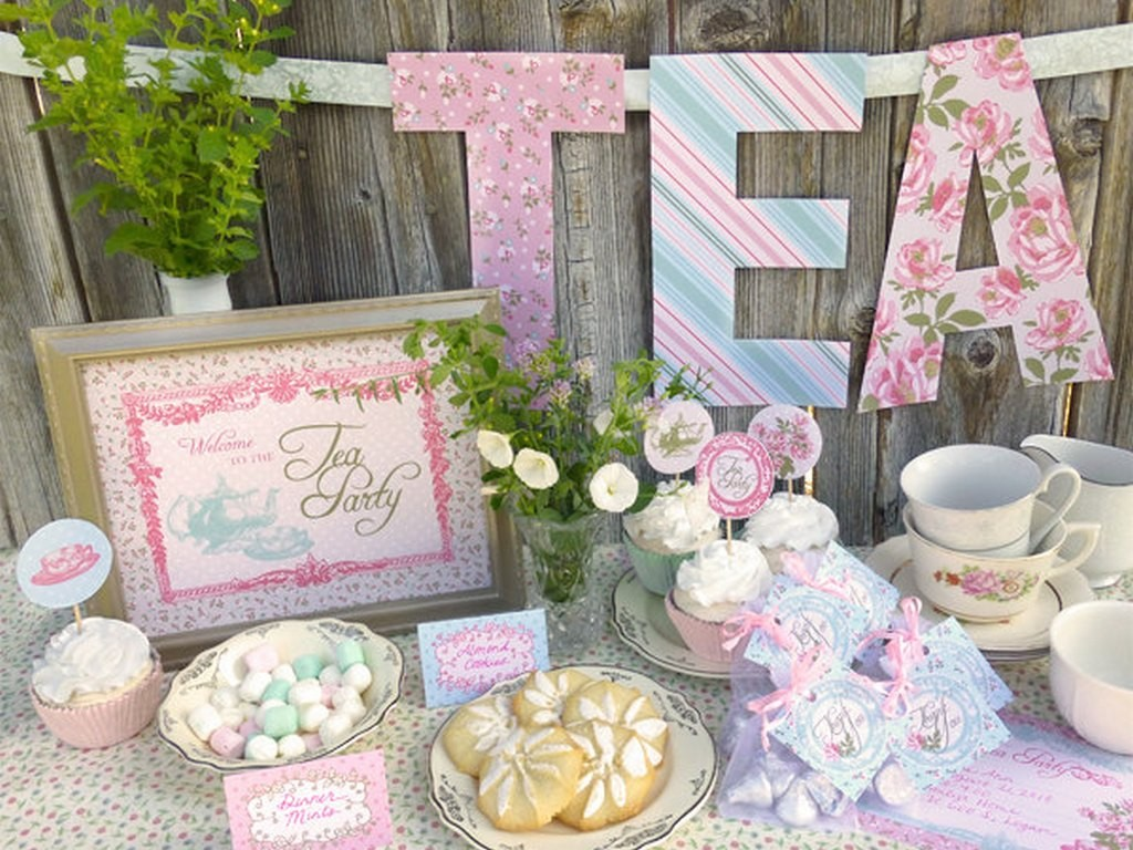 Tea party baby shower ideas baby ideas for Baby party decoration