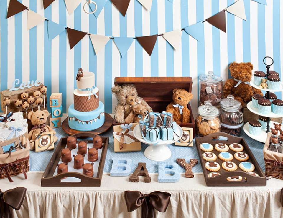 Teddy bear baby shower ideas baby ideas for A decoration none