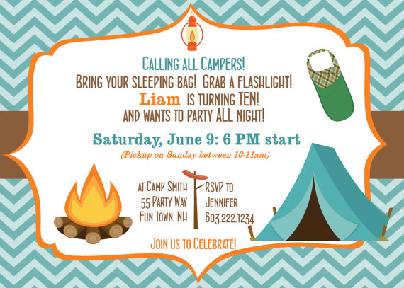 camp invitation