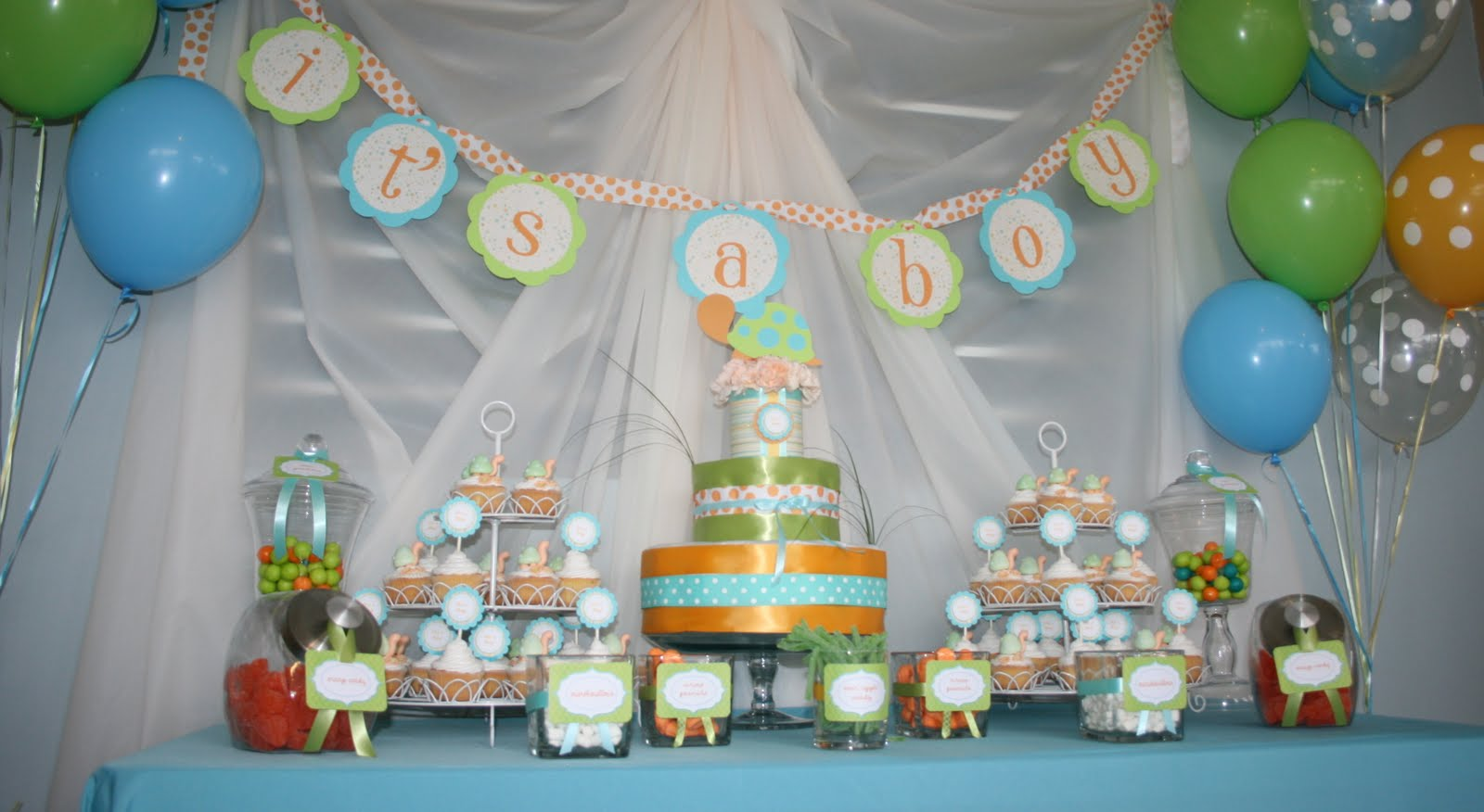 Turtle baby shower ideas baby ideas for Baby shower decoration pics