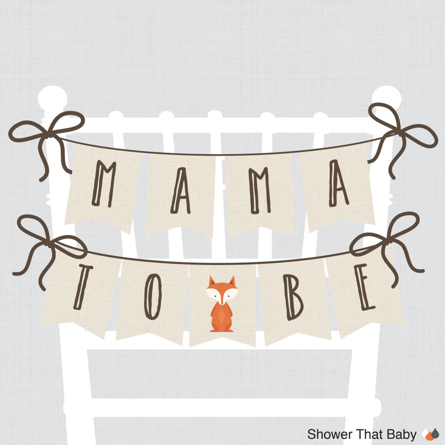 Baby Shower Chair Banner Mama To Be