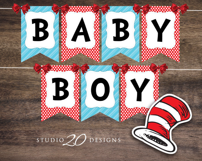 Dr. Seuss Baby Shower Banner