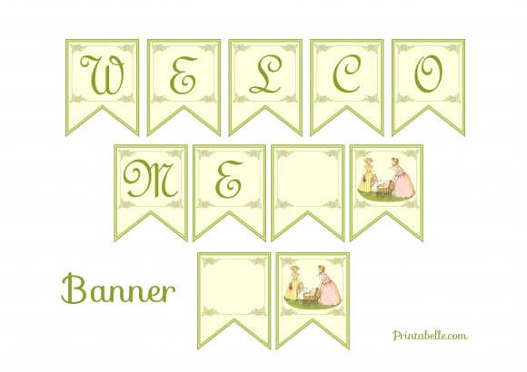 FREE Vintage Baby Shower Printables from Printabelle