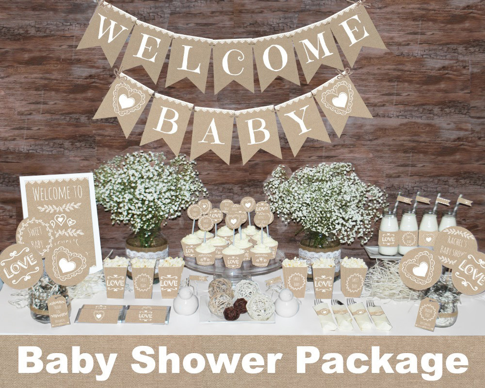 Gender neutral baby shower decorations