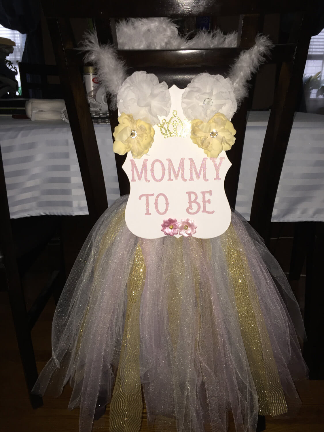 Mommy To Be Baby Shower Chair Sash