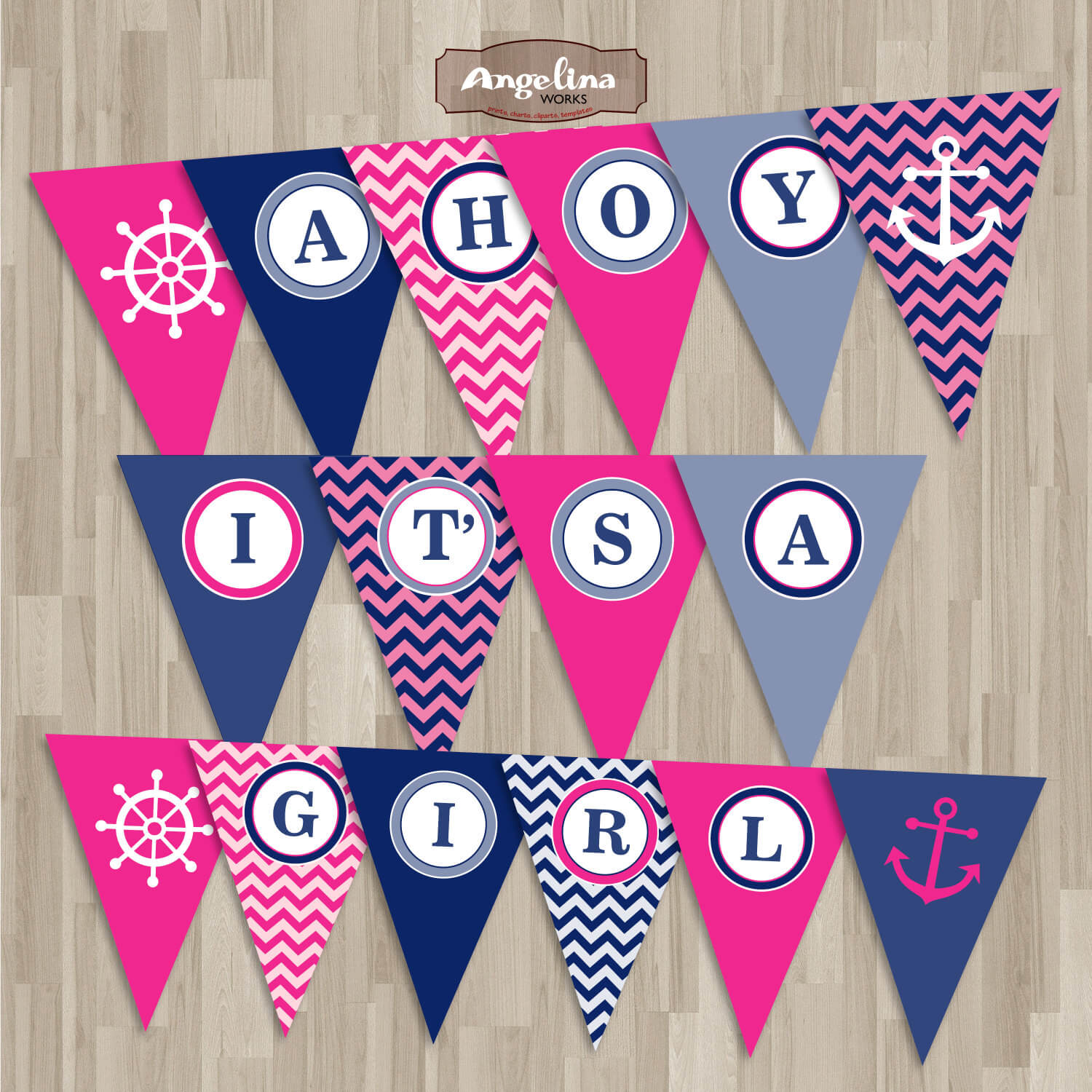 Lovely Nautical Baby Shower Banner