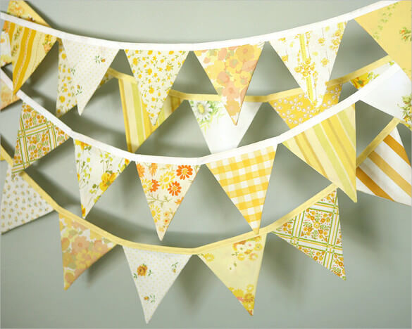 Pennant Banner Template – 24+ Free