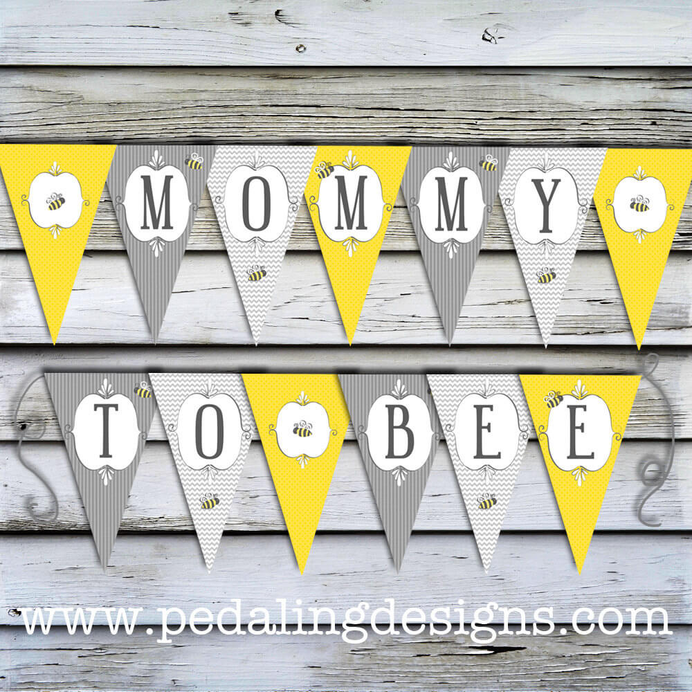 Printable Baby Shower Banner - Mommy to Bee