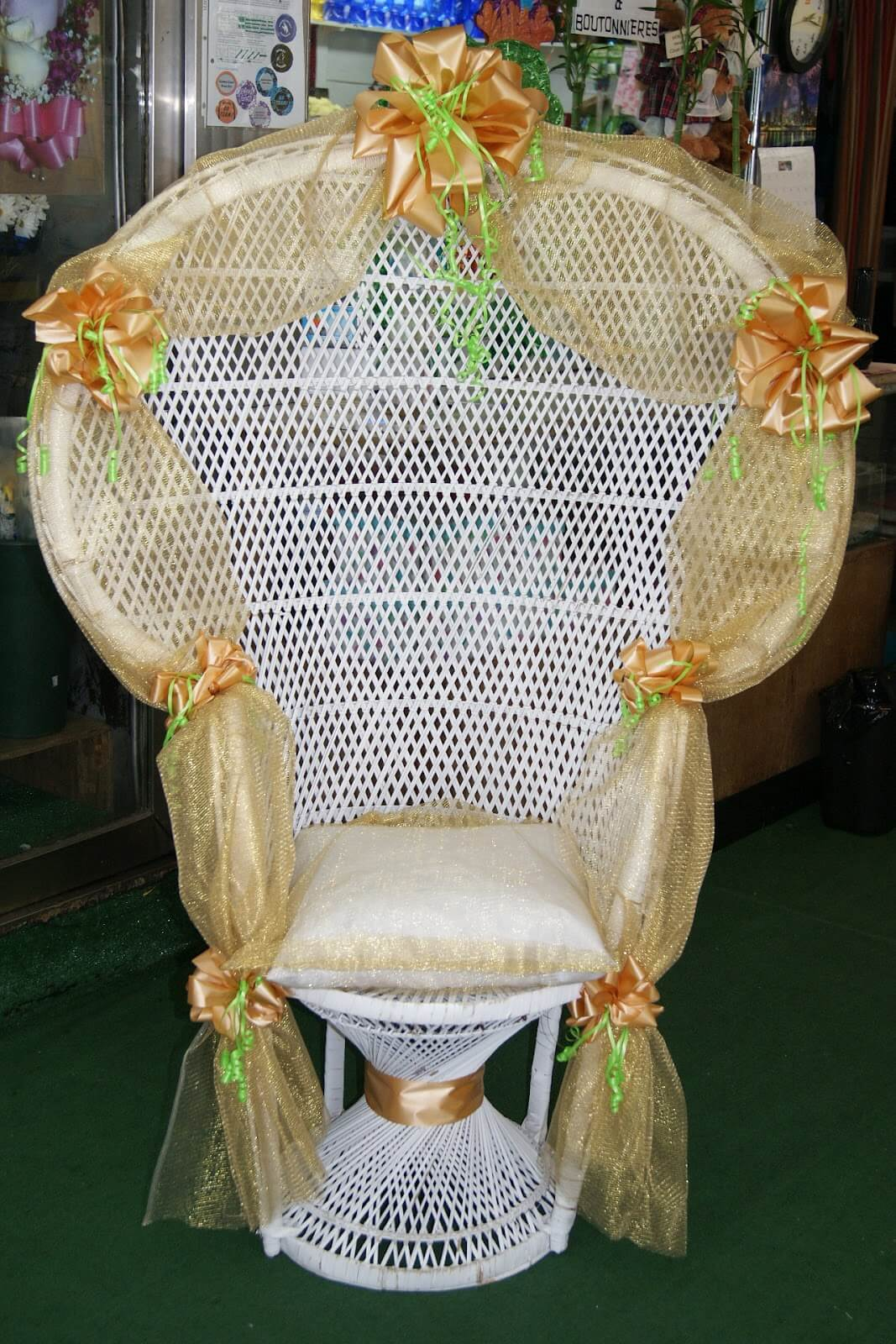 giant paper flowers baby shower chair decorations wedding decor