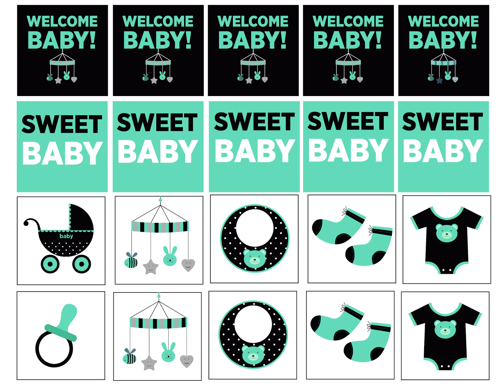 """""""SWEET BABY"""" letters"""