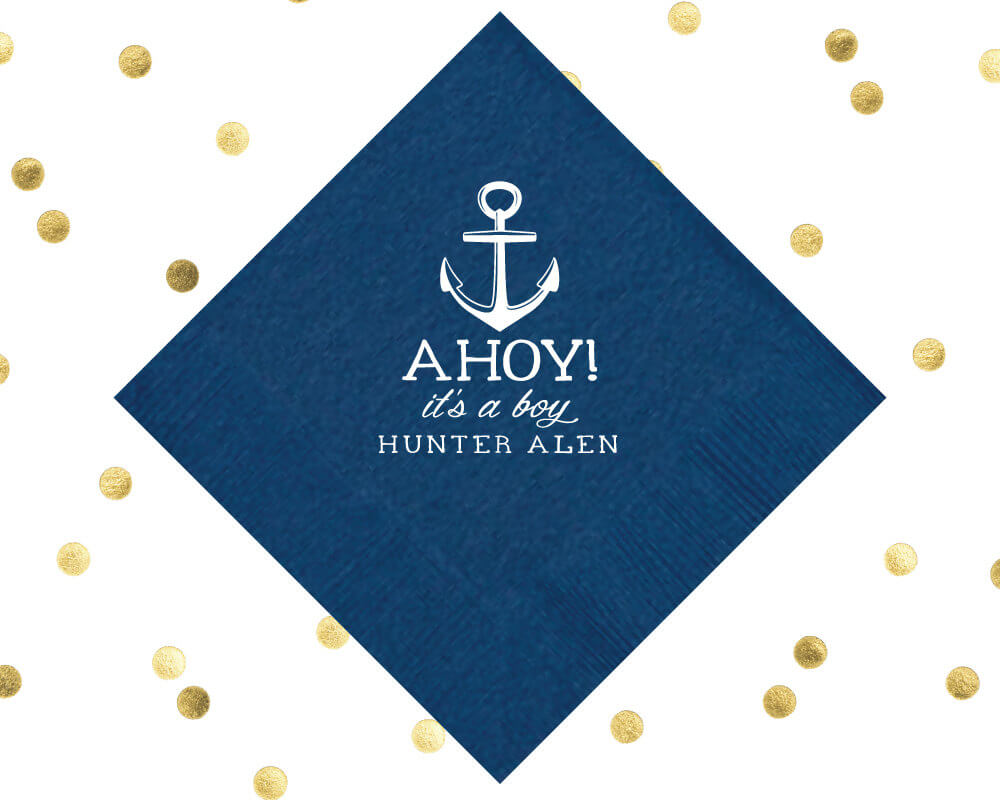 Ahoy It's a Boy, Baby Shower Napkins
