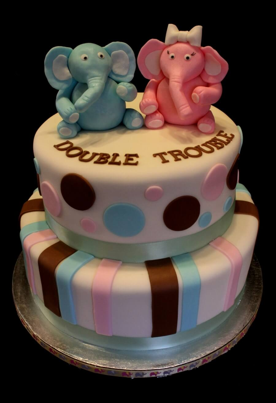 twin baby animals you can make a twin baby animal baby shower cake