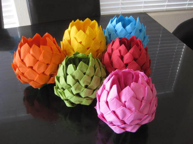 Paper Napkin Lotus Flower