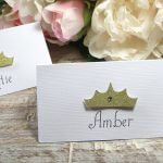 Princess Party place cards, Baby Shower party place cards, Crown placecards